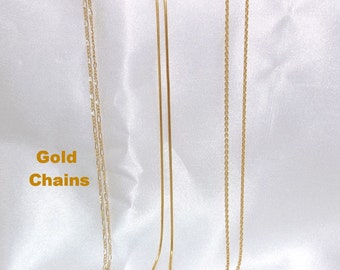 Gold Filled Chains 1