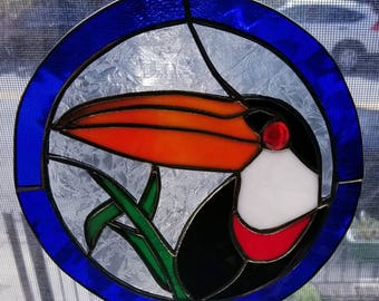 Toucan Stained Glass Suncatcher