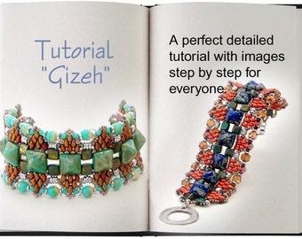 Jewelry Tutorial.... Gizeh ... Pyramid Stud Bead Bracelet Tutorial
