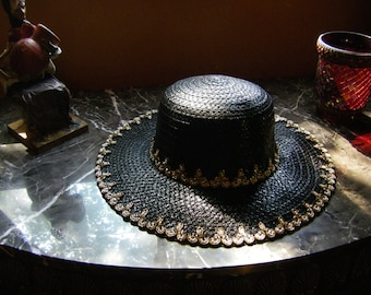 Dramatic Garden Party, Kentucky Derby, Evening Hat, Tea Party Hat.