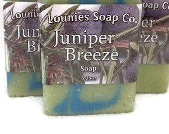 Juniper Breeze Soap | Juniper  | Scented Soap | Colorful Soap | Handmade Soap | Soap Gift | Handmade Gift Idea | Bar Soap Gift | Unique Gift