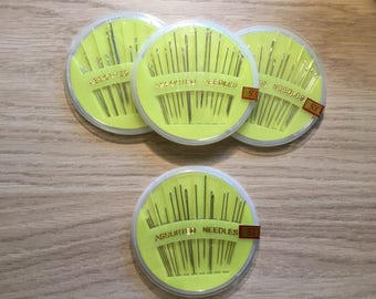 Assorted hand sewing needles. Appox 18 needles per pack.