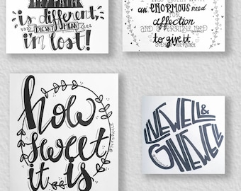 Custom-Designed Typography Wall Canvas