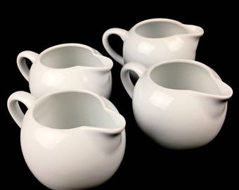 Faberware French Provincial Style White Creamer Pitchers