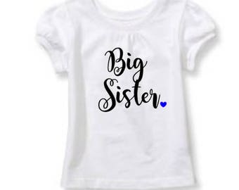 Big Sister Shirt with heart