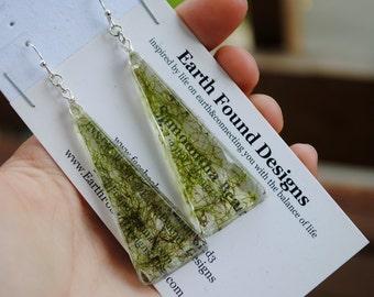 Forest Floor Pyramid Earrings