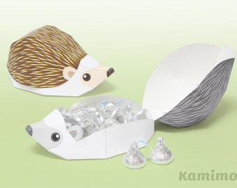 Hedgehog - Favor boxes, Gift boxes / Printable Paper Craft PDF