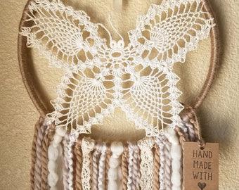 Butterfly Dreamcatcher - Neutral Tones