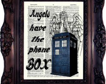 Dr Who Print. Matt Smith Print on Book Page. 11. doctor. Quote Dictionary Art Print. Book page art. Dr Who art. Quotes. Police BoxCode:539