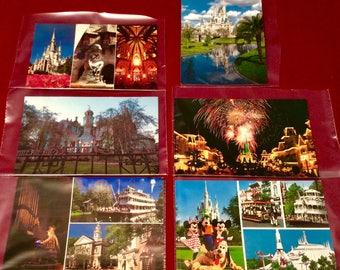 Vintage mid-1990's Walt Disney World Medium Size Postcards