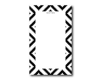 Ikat Notes List Notepad // 4.25 x 7  Notepad // 50 Sheets // Shopping List, Market List