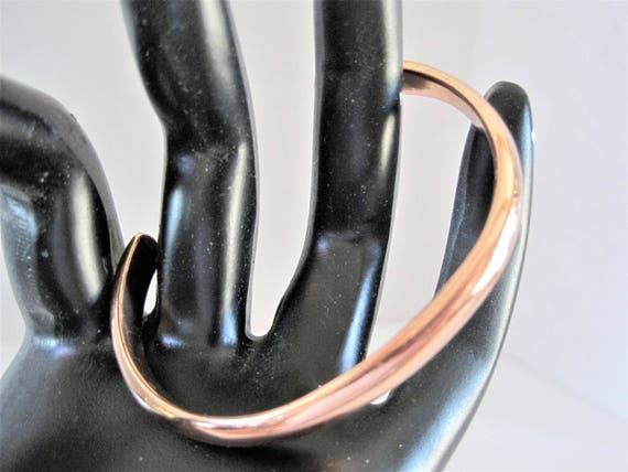 Modernist Copper Cuff, Signed Sausalito Craftworks, Solid Copper Metal -  Copper Bracelet
