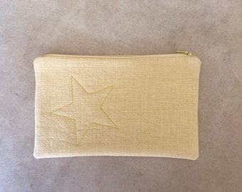 yellow star pouch