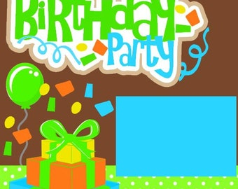 Scrapbook Page Kit Boy Birthday Party Premade Scrapbook Pages 2-page 12X12 Scrapbook Page Kit or Premade Layout
