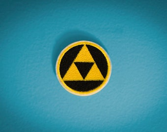 Triforce -- Zelda Embroidered Iron-on NES Nintendo Patch