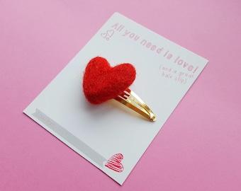 Love Glitter, felt hair bow gift card, party bag, sparkle hair bow