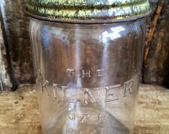 kilner jar, vintage jelly jar, 50s kilner, 50s storage, jam jar, preserve jar, retro decor, kitchen storage, glass jar, vintage jar,