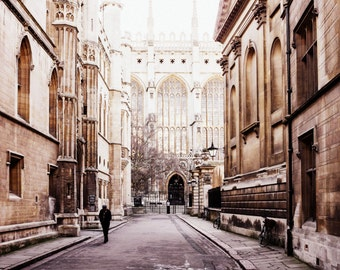 Cambridge Print - King's College English Architecture Fine Art Photograph - Cambridge University Photography - Student Gift