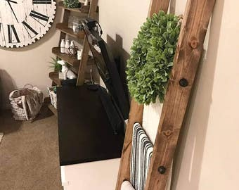 Industrial Farmhouse Blanket Ladder - LOCAL ONLY / rustic