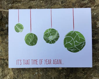 DANGLING SPROUTS // Christmas Card