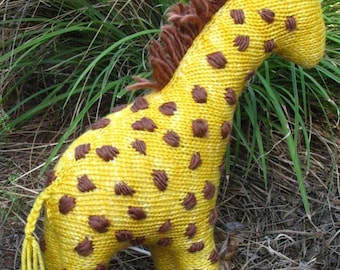 Giraffe Toy  Knitting Pattern (PDF) Instant Digital Download