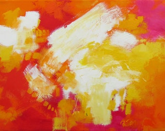 Summer, Dana Marie, Original Abstract Painting, Acrylic and Oil on Canvas
