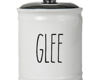 Glee Word Jar With Lid - Money Coin Jar - Money Bank - Money Jar - Money Jar With Lid