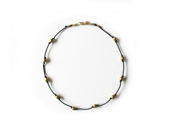 Stella Necklace, black