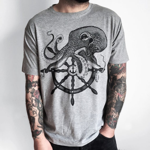 OCTOPUS shirt, mens t-shirt