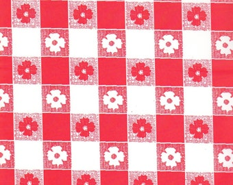 Red And White Gingham Table Cover Tablecloth Plastic 54 X 108 (2 Pieces)