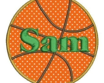Basketball Applique Machine Embroidery Design 4x4 5x5 7x7