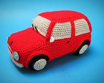 Amigurumi Classic Mini Cooper Inspired Car Crochet PATTERN PDF Toy Home Decor