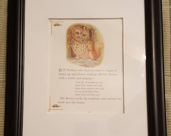 Nutkin Sings a Song - The Tale of Squirrel Nutkin by Beatrix Potter - Aproximaitely 5 1/2 x 7 1/2 inches