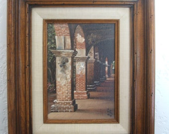 Oil Painting of the Mission San Juan Capistrano by Eugene Schmidt