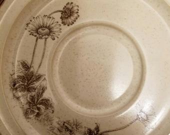"Vintage discontinued noritake desert flowers stoneware 1974-1985 saucer set of 4 6.25"" vc20"