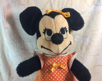 Vintage Minnie Mouse 1950s 1960s Walt Disney Character Plush Doll Large Disneyland Stuffed Toy