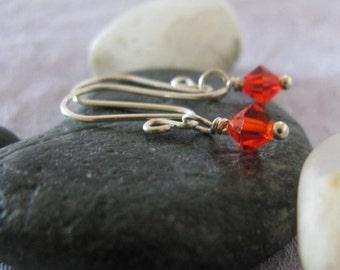 Swarovski Hyacinth Tangerine Orange Sweet 16 Earrings : Color of the Year