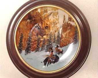 "Vintage 1st Edition ""Canyon of the Cat"" Plate by Julie Kramer Cole"