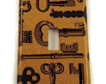 Light Switch Cover Wall Decor Switchplate  Single  Switch Plate in Keys (090S)