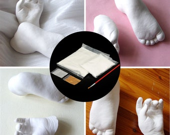 DIY 3D Baby Hand & Foot Plaster Handprints Footprints Casting Set Keepsake Gift Decorations
