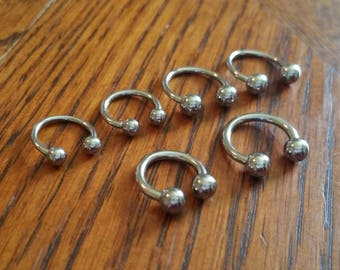 Steel Circular Barbell (18g/16g/14g) - [septum/nose/nostril/ear/cartilage/conch/helix/rook/daith/eyebrow/lip/nipple/labret/body jewelry]