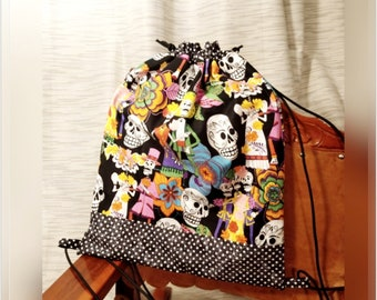 Rockabilly Drawstring Backpack
