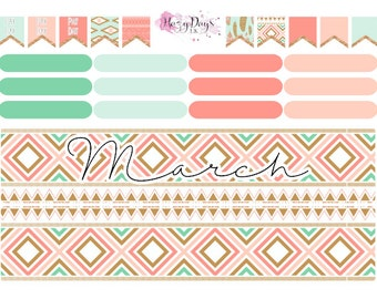 Choose your Month - Monthly View Planner Stickers Horizontal & Vertical ECLP
