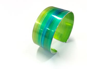 Forest Green 30 mm Anodised Aluminium Cuff