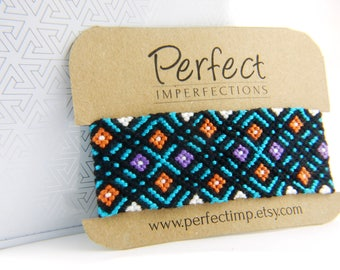Extra Wide Handwoven Friendship Bracelet Cuff // Native American Gypsy Boho Micromacrame Braclet // Hippie PerfectImp Best Friend Gift //