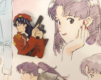 "Misato Katsuragi 2"" hard enamel pin"
