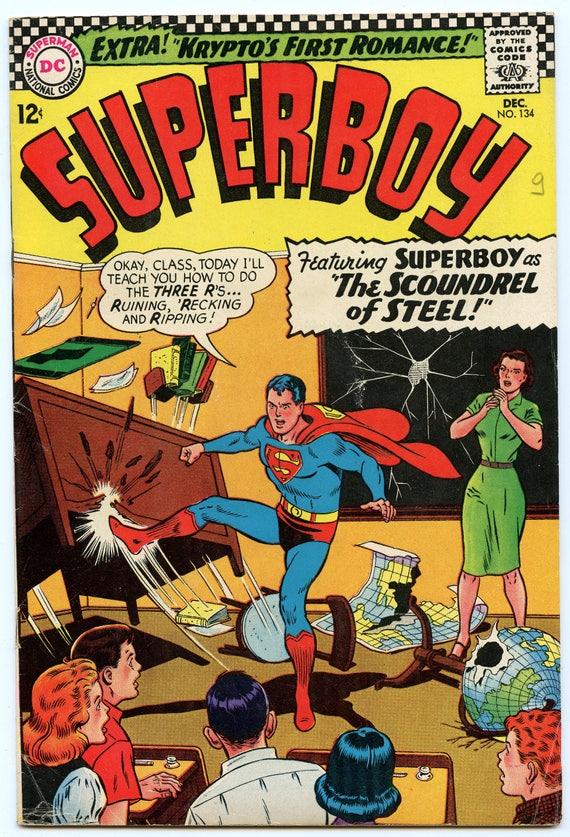 Superboy 134 Dec 1966 VG-FI (5.0)
