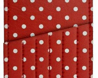 Pick One Needle Carry Case Card Polka Dot pouch 4 colors by Inazuma Emma Creation at thecottageneedle.com