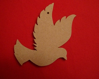 Unfinished Mdf Wood Dove Ornament