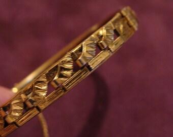 Vintage bracelet Freirich gold tone bracelet Signed Vintage jewelry Costume jewelry Victorian bracelet bangle FogartyTreasures